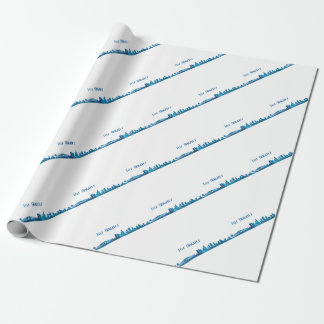 Los Angeles Skyline Silhouette Wrapping Paper