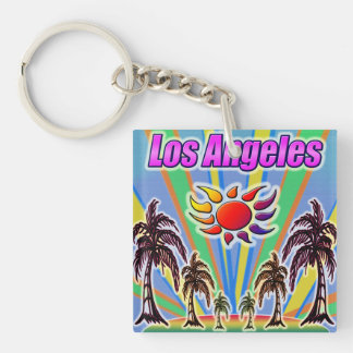 Los Angeles Summer Love Keychain