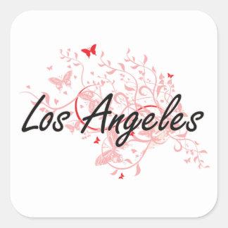 Los Angeles United States City Artistic design wit Square Sticker