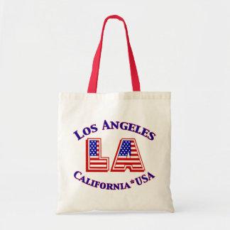 Los Angeles USA Patriotic Logo Budget Tote Bag