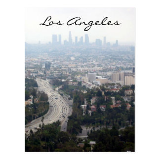 los angeles view postcard