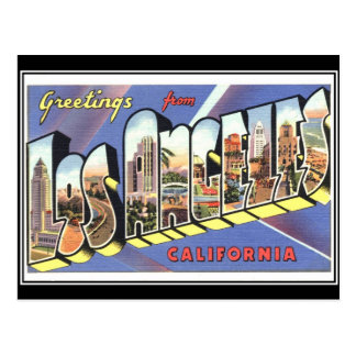 Los Angeles Vintage Travel Postcard