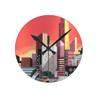 Los Angeles Vintage Travel Round Clock