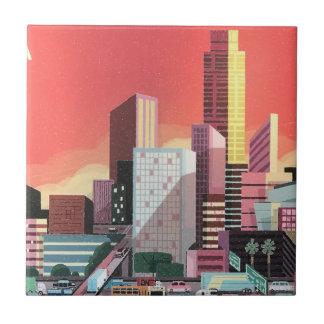 Los Angeles Vintage Travel Tile