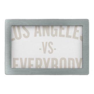 Los Angeles Vs Everybody Rectangular Belt Buckle