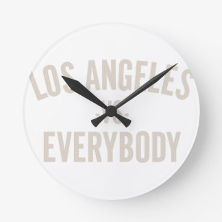 Los Angeles Vs Everybody Round Clock