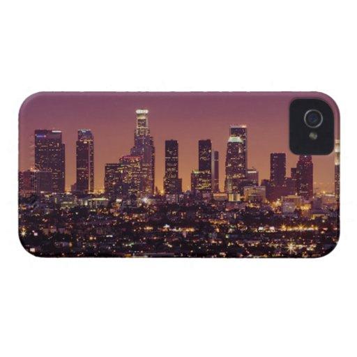 Los Angleles Skyline Night Blackberry Cases