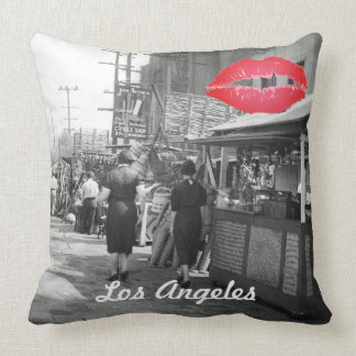 Los Angles California 1935 Olivera Street Photo Cushion