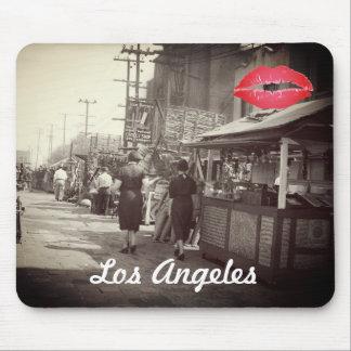 Los Angles California 1935 Olivera Street Photo Mouse Pad