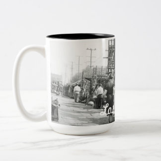 Los Angles California 1935 Olivera Street Photo Two-Tone Coffee Mug