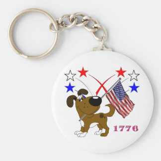 Los Cachorros Basic Round Button Key Ring