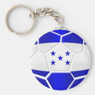 Los Catrachos Honduras soccer ball gifts Basic Round Button Key Ring