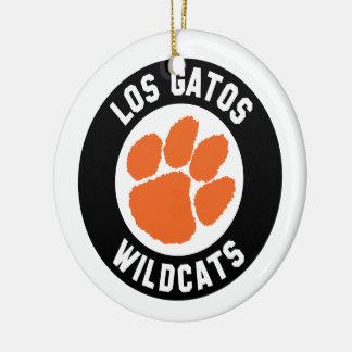 Los Gatos Wildcats Pawprint Ornament