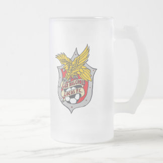 Los Halcones Locos FC - Frosted Beer Glass Frosted Glass Mug