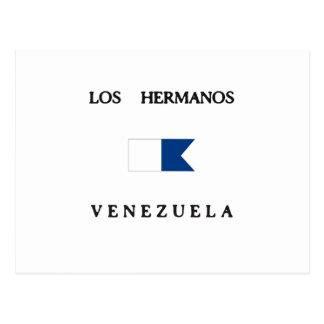 Los Hermanos Venezuela Alpha Dive Flag Post Card