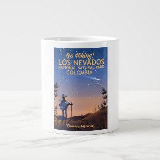 Los Nevados National Natural Park Travel poster Large Coffee Mug