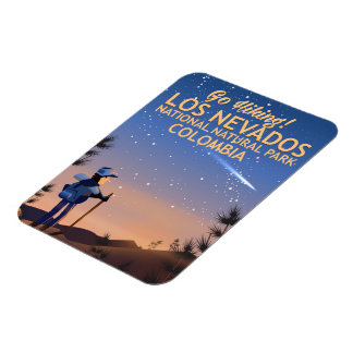 Los Nevados National Natural Park Travel poster Magnet
