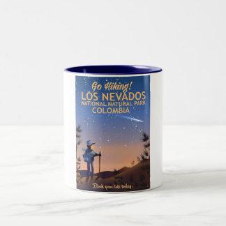Los Nevados National Natural Park Travel poster Two-Tone Coffee Mug