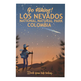 Los Nevados National Natural Park Travel poster Wood Canvases