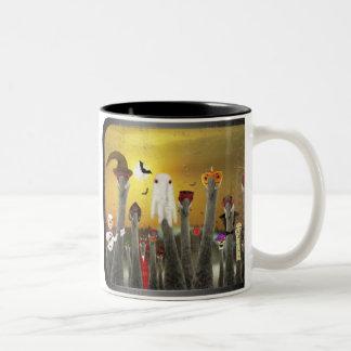 Los Ninos De Grulla Two-Tone Coffee Mug
