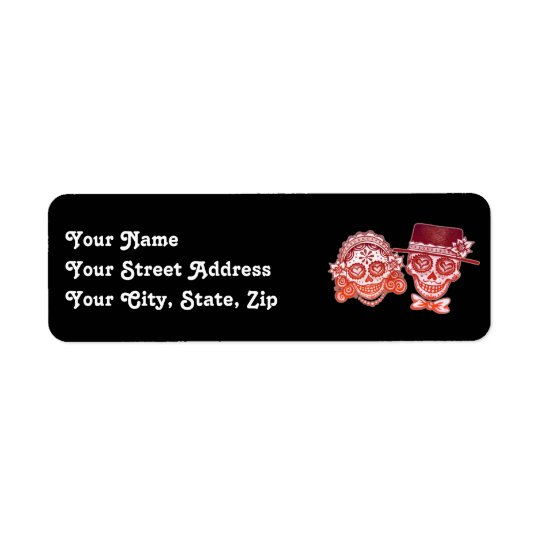Los Novios Day of the Dead Address Labels