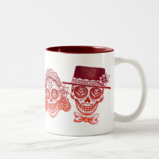 Los Novios - Dia de los Muertos Drinkware Two-Tone Mug