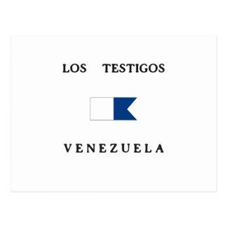 Los Testigos Venezuela Alpha Dive Flag Post Card