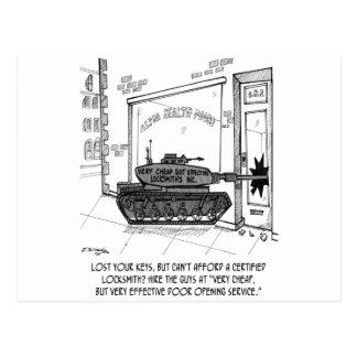 Lose Keys, Use a Tank Postcard