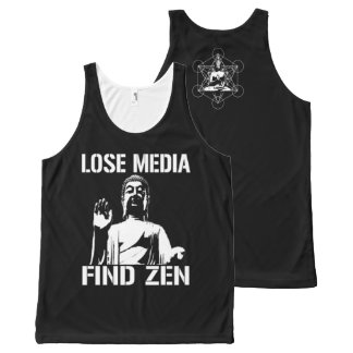 Lose Media find Zen All-Over Print Tank Top