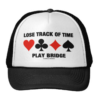 Lose Track Of Time Play Bridge (Card Suits) Mesh Hats