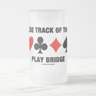 Lose Track Of Time Play Bridge (Card Suits) Mug