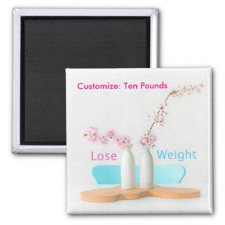 Lose Weight Diet Goals Flowers Magnet
