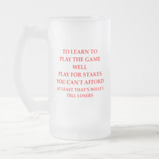 LOSERS FROSTED GLASS BEER MUG