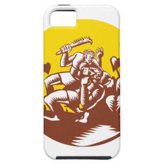Losi Defeating God Circle Woodcut iPhone 5 Cases