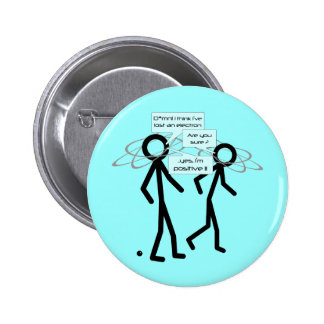 Losing An Electron joke - badge button