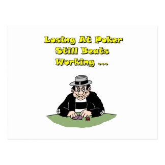 Losing At Poker Postcard