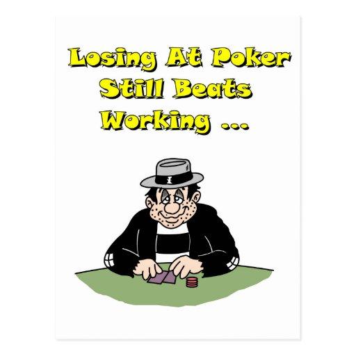 Losing At Poker Postcards