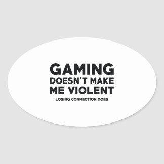 Losing Connection Oval Sticker