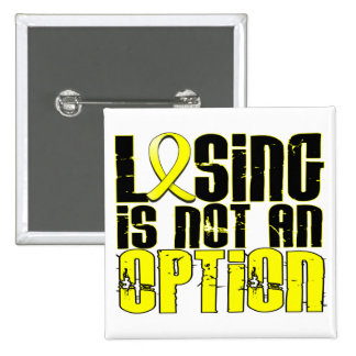 Losing Is Not An Option Endometriosis 15 Cm Square Badge