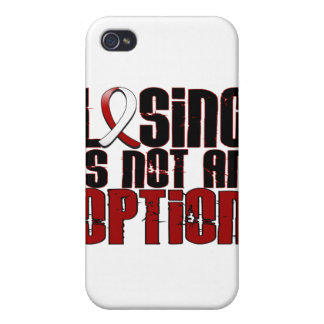 Losing Is Not An Option Head Neck Cancer iPhone 4 Case