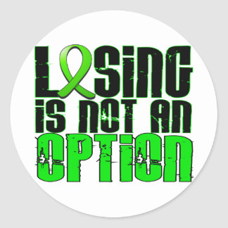 Losing Is Not An Option Lyme Disease Round Sticker
