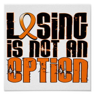 Losing Is Not An Option Multiple Sclerosis Poster