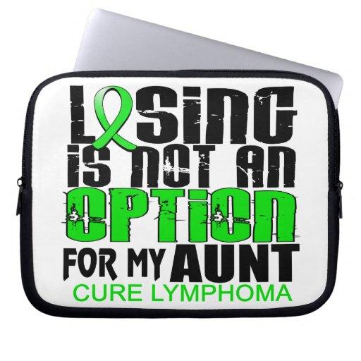 Losing Not Option Lymphoma Aunt Laptop Computer Sleeve