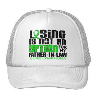 Losing Not Option Lymphoma Father-In-Law Trucker Hats