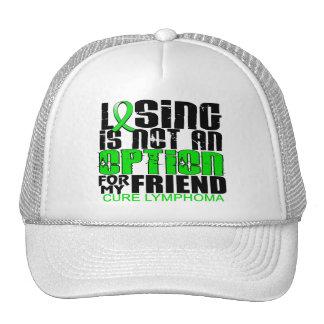 Losing Not Option Lymphoma Friend Trucker Hats