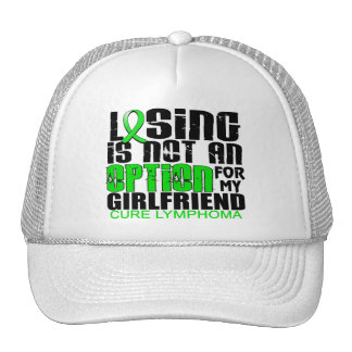 Losing Not Option Lymphoma Girlfriend Hats