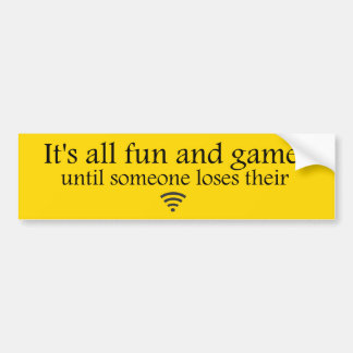 Losing WiFi Internet Bumper Sticker - Yellow