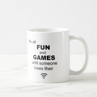 Losing WiFi Internet Coffee Mug - White