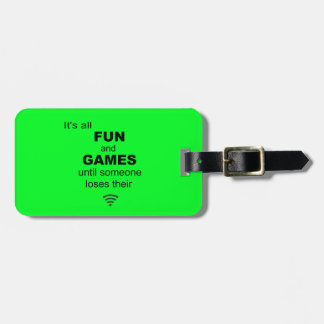 Losing WiFi Internet Luggage Tag - Bright Green