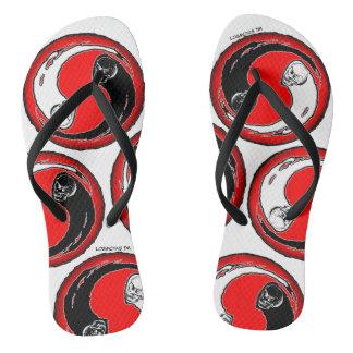 LosMoyas Yin Yang flip flops
